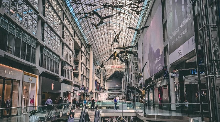 Shopping Mall for Travelers who Stay at Temperance Street furnished apartments- Toronto Eaton Center